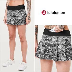Lululemon Pace Rival Masked Lace Black Skort Skirt